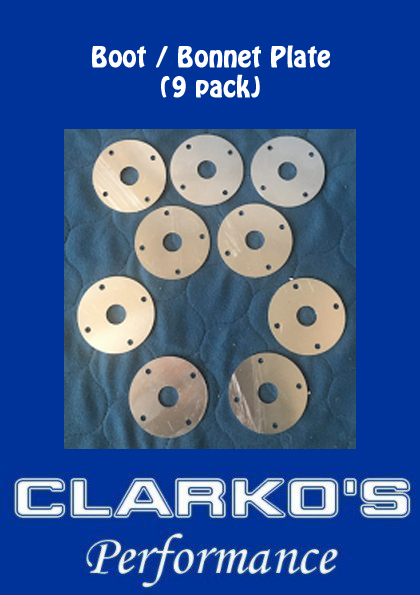 Boot / Bonnet 9 pack plates